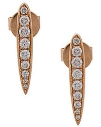 Anita Ko | Line Stud Earrings | Lyst