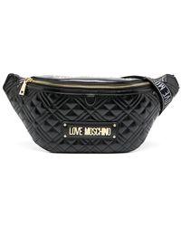 Love Moschino Logo-plaque Belt Bag - Black