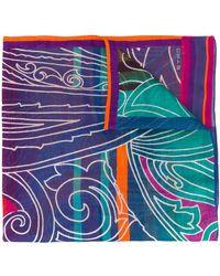Etro Sjaal Met Abstracte Print - Oranje