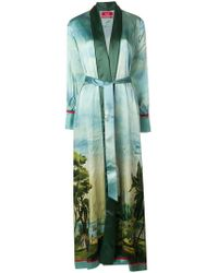 F.R.S For Restless Sleepers - Printed Long Belted Kimono - Lyst
