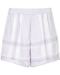 Cecilie Copenhagen - Patterned Lightweight Shorts - Lyst