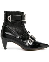 ALEXACHUNG Multi-buckle Ankle Boots - Black