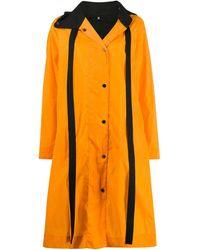 McQ Oversized Raincoat - Orange