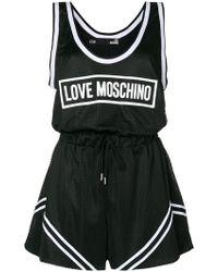 Love Moschino | Logo Print Playsuit | Lyst