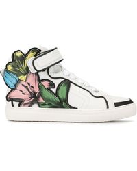 Pierre Hardy Lilyrama Leather Trainers - White