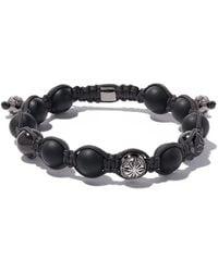 Shamballa Jewels 18kt Black Gold & Diamond Beaded Bracelet