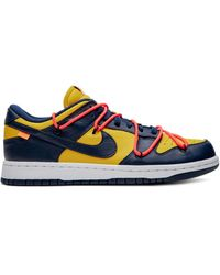 Nike Off-white Dunk 'university Gold' Low-top Sneakers - Blauw