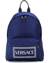 Versace ロゴ バックパック - ブルー