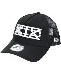 KTZ New Era Mesh Peak Cap - Black