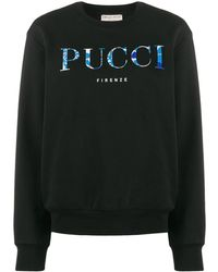 Emilio Pucci Logo-printed Sweatshirt - Black