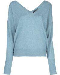 Nili Lotan リラックスフィット セーター - ブルー