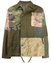Maharishi パッチワーク シャツジャケット - グリーン