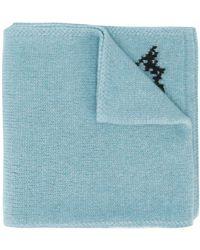 DSquared² Intarsien-Schal mit Hirsch - Blau
