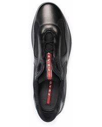 Prada New America's Cup Low-top Sneakers - Zwart