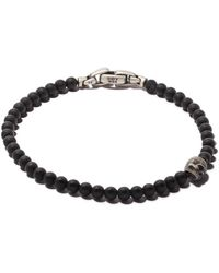 David Yurman Браслет 'spiritual Beads' С Деталью В Форме Черепа - Черный