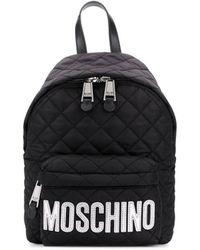 Moschino Rucksack mit Logo - Schwarz