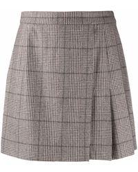 FEDERICA TOSI Minifalda con cuadros Príncipe de Gales - Gris