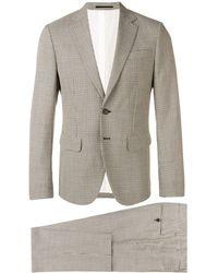DSquared² チェック ツーピース スーツ - グレー