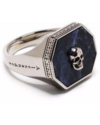 Alexander McQueen Кольцо С Декором Skull - Многоцветный