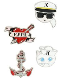 Karl Lagerfeld - Captain Karl Brooches - Lyst