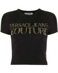 Versace Jeans - スタッズロゴ Tシャツ - Lyst