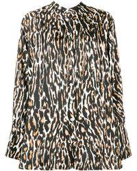 CALVIN KLEIN 205W39NYC Bluse mit Leoparden-Print - Schwarz