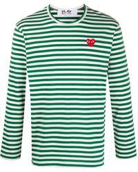 COMME DES GARÇONS PLAY - ストライプ ロングtシャツ - Lyst
