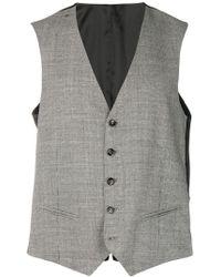 Tonello - Houndstooth Pattern Waistcoat - Lyst