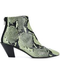 A.F.Vandevorst Snakeskin-effect Boots - Green