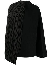 Jil Sander Cape-effect Sweater - Black