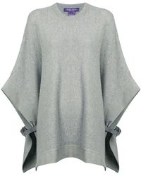 Ralph Lauren Collection - Buckle Detail Knitted Poncho - Lyst