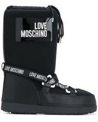 Love Moschino ロゴ スノーブーツ - ブラック
