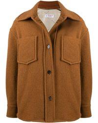 Alberto Biani ボタン シャツジャケット - ブラウン