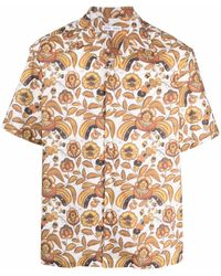 Cmmn Swdn フローラル コットンシャツ - ホワイト
