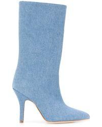 Paris Texas Denim Mid-height Boots - Blue