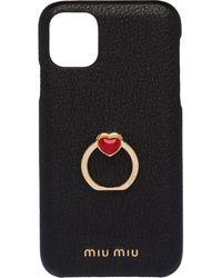 Miu Miu Iphone 11 Hoesje - Zwart
