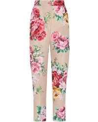 Dolce & Gabbana Брюки С Цветочным Принтом - Многоцветный