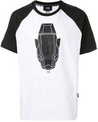 Class Roberto Cavalli Graphic Motif T-shirt - White