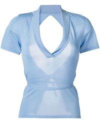 Jacquemus Fine-knit Top - Blue
