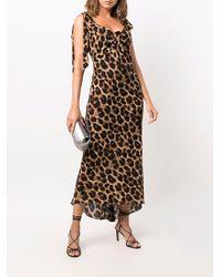 Parlor Leopard-print Asymmetric Shift Dress - Multicolour