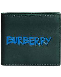 Burberry - Graffiti Print Leather International Bifold Wallet - Lyst