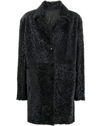 DROMe シアリング シングルコート - ブルー