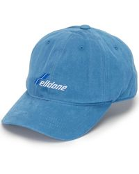 we11done Gorra con logo bordado - Azul