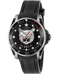 Gucci -Dive-Uhr, 40 mm - Schwarz