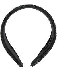 MaryJane Claverol Marbella Beaded Headband - Black