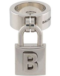 Balenciaga Кольцо С Подвеской - Металлик