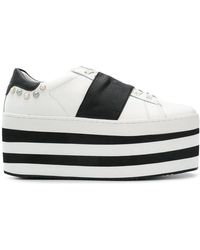 MOA - Flatform Striped Lace-up Sneakers - Lyst