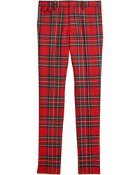 Burberry Tartan Wool Tailored Pants