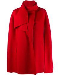 Valentino Cape à col drapé - Rouge
