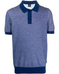 BOSS by Hugo Boss コントラストカラー ポロシャツ - ブルー